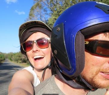 Exploring Ometepe on mopeds