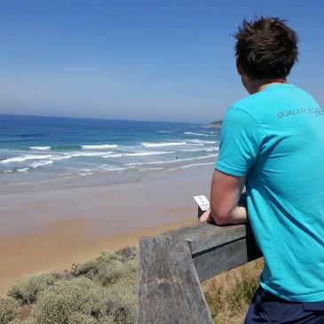 Shane checking the surf at Jun Jac beach
