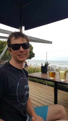 Beach front happy hour in Lorne