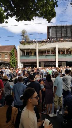 Mid-street performers