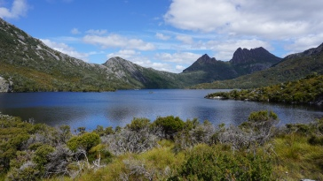 Looking over Dove Lake at Cradle Mountain
