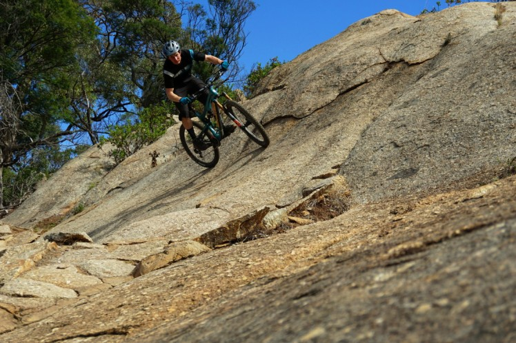 Shane mid rock garden on Travs Diamond at You yang ,mountain bike park