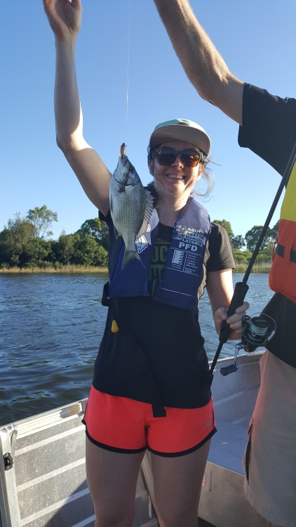 Kate's first fish!!