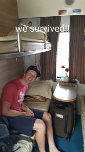 Our cabin on the train